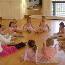 Ballet lesson at The London Dance Academy
